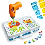 Enllonish Building Blocks Pegboard Toy Construction Toy Set Take Apart Toys with Crew Screwdrivers Nut and Spanner | 3D Building Block Creative Puzzle DIY Set for Children Ages 3+ Years Old