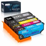 OfficeWorld Replacement for Epson 33 33XL Ink Cartridges Compatible with Epson Expression Premium XP-900 XP-540 XP-7100 XP-830 XP-630 XP-530 XP-640 XP-645 XP-635 (5 Pack)