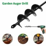 Auger Drill Bit Garden Plant Flower Bulb Auger Rapid Planter Bulb & Bedding Plant Auger for Most Drill Earth Auger Drill Fence Post Umbrella Hole Digger Auger Spiral Drill Bit Planting Tool (4x45cm): Amazon.co.uk: DIY & Tools