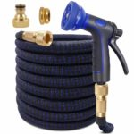 KAREEME 100ft Expandable Garden Hose Upgraded Flexible Water Hose with Three Latex Core