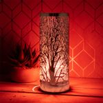 L&P Home & Gifts Desire Aroma melt Oil Aromatherapy Wax Touch lamp. Fragrance Burner for Home/Bedroom/Living Room/Office/Gym. Tree Design in The Colour red