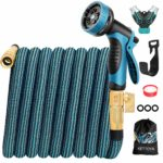 KETTOYA 2020 Upgrade 100FT Expandable Garden Hose Water Hose with 10-Function High-Pressure Spray Nozzle