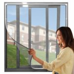 """【Upgrade】Adjustable DIY Magnetic Fly Screen Window Max 48"""" x 43""""Fits Any Size Smaller DIY Easy Installation Keep Bugs/Flys/Mosquitoes Out(White Frame with Grey Net) (48"""" x 43): Amazon.co.uk: DIY & Tools"""