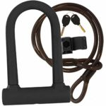 Spritz National Bike U Lock With Steel Cable and Bike Mount. Bike D Lock Best For Locking Your Bike Up Safely. Weatherproof and Heavy Duty. Easily Carried On The Bike Mount. U-Lock Style