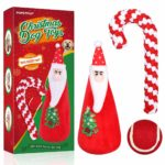 POPETPOP Christmas Dog Toys 3 Pack - Dog Teeth Cleaning Rope Toy