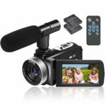 Video Camera Camcorder Full HD 1080p 30FPS Camcorder Camera 24MP Video Camcorder 18x Digital Zoom Camcorder 3 Inches IPS Screen Vlogging Camera with Remote Control And 2 Batteries