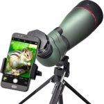 Landove Waterproof Spotting Scope- Prism Scope for Birdwatching Target Shooting Archery Outdoor Activities -with Tripod & Digiscoping Adapter-Get the Beauty into Screen (80mm spotting scope)