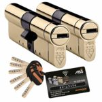 Avocet ABS High Security Euro Cylinder Keyed Alike Pairs - Anti Snap Locks - TS007 3 Star 45mm Int 45mm Ext Brass