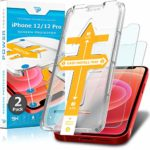 Power Theory Screen Protector for iPhone 12/iPhone 12 Pro [2-Pack] with Easy Install Kit [Premium Tempered Glass]