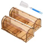 Godmorn Humane Mouse Trap 2 Pack with Cleaning Brush