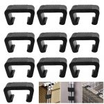 RMENOOR 10Pcs Patio Furniture Clips Outdoor Wicker Furniture Connect Clamps Plastic Rattan Sofa Clips Chair Alignment Fasteners Clips Sectional Connector for Module Outdoor Couch Patio Furniture
