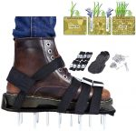 ZIONYA Lawn Aerator Shoes With 8 Adjustable Metal Straps and 26 Spikes Universal Size Fits All