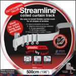 Speedy 5 m Bendable Curtain Track for Straight & Bay Window Rail Enough for 3 Standard Windows