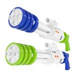 TEMI Super Water-Blaster Squirt Water-Guns - 2 Pack 22.4'' Large Water Soaker Blaster w/ 5 Nozzles Shooting 40ft