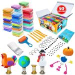 essenson Modeling Clay Kit - 50 Colors Air Dry Magic Clay