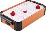 Trading Innovation Mini Arcade Air Hockey Table with Puck | Pusher Battery Operated Table Top Toys Game for girls and boys | Travel Size Lightweight | Indoor & Outdoor Portable Games Set